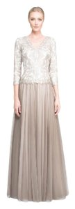 Tadashi Shoji Mother Of The Bride Longsleeve Gown Lined Dress