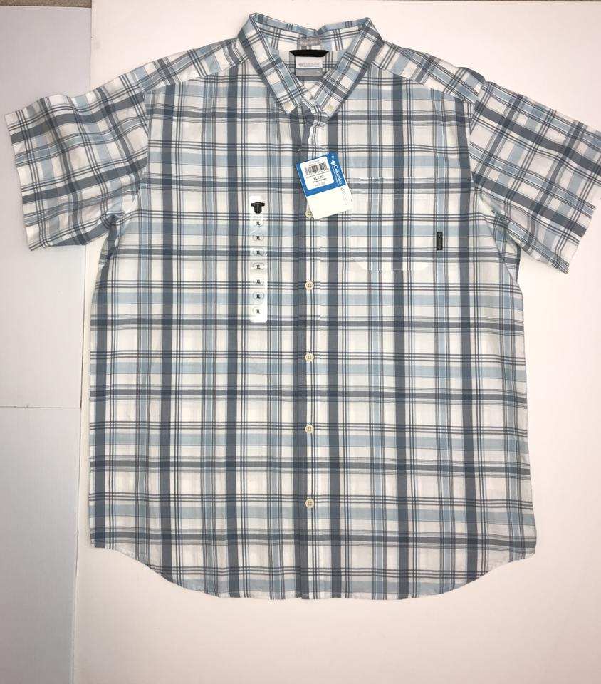 b04ad8e361d Columbia Sportswear Company Button Down Shirt Blue/White Plaid Image 0 ...