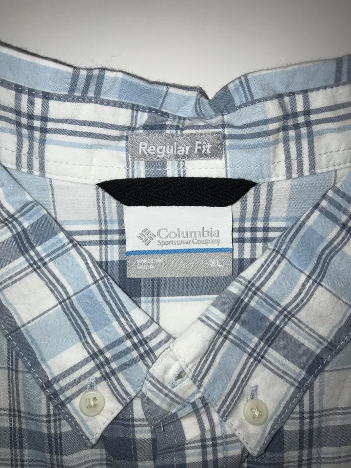 fd631ed282f Columbia Sportswear Company Button Down Shirt Blue/White Plaid Image 3. 1234