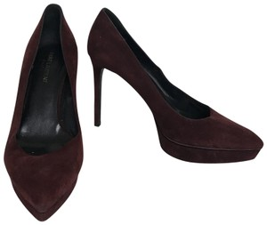 Saint Laurent Janis Burgundy Pumps