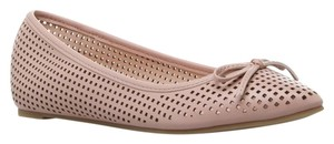 ShoeDazzle Bow Laser Cut Neutral Pink Flats