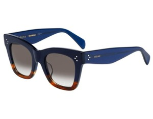Cline NEW Celine CL 41098/S Catherine Navy Havana Cat Eye Sunglasses