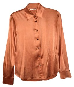 St. John Button Down Shirt Peach