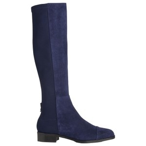 L.K. Bennett Suede Knee High Riding Tall Blue Boots