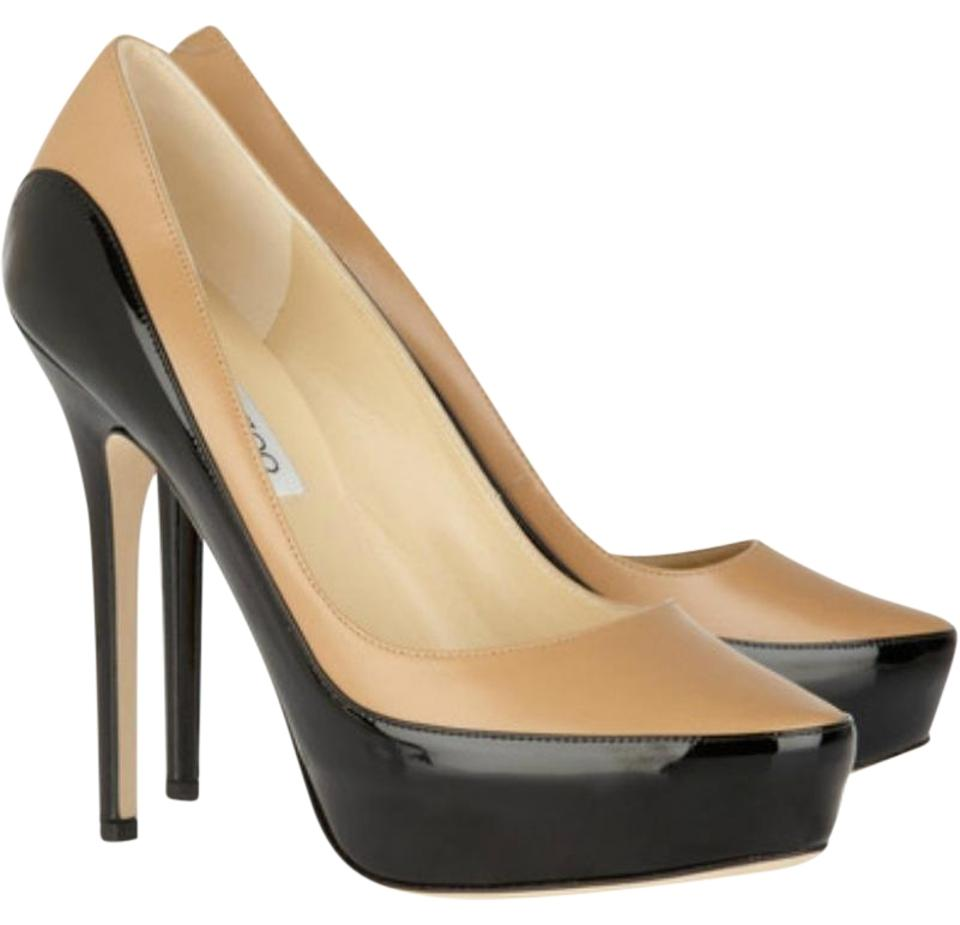 75f208ccd8d Jimmy Choo Sepia Two Toned Leather Patent Pumps. Size  EU 39.5 (Approx. US  9.5) Regular (M ...