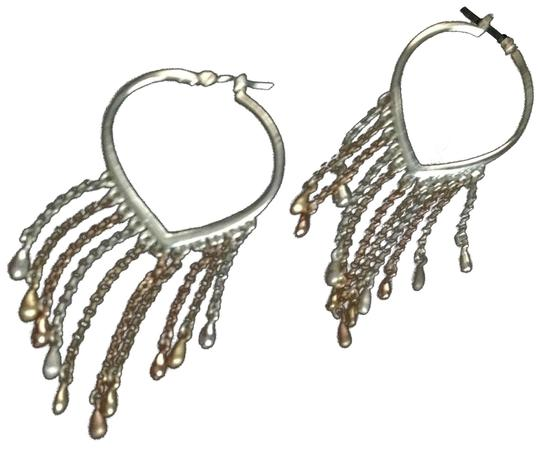 Other sterling heart chain earring hoops Image 0