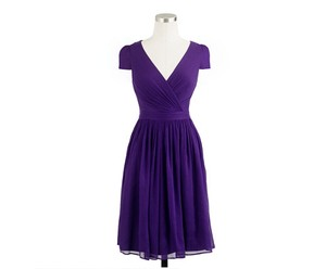 J.Crew Eggplant Chiffon Formal Bridesmaid/Mob Dress Size 00 (XXS)