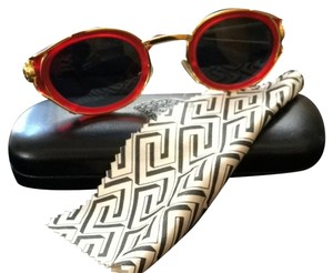 Versace Versace Red And Gold Sunglasses W/ Case