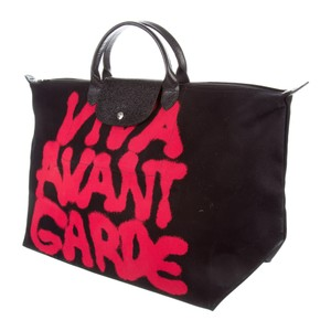 Jeremy Scott Moschino Longchamp Limited Edition Tote in Black/Red