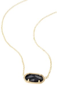 Kendra Scott Brand New Kendra Scott Elisa Necklace in Black Opaque Glass 14k Gold