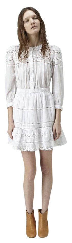 cd0440ede6 toile Isabel Marant short dress White Great Boho Cotton on Tradesy Image 0  ...
