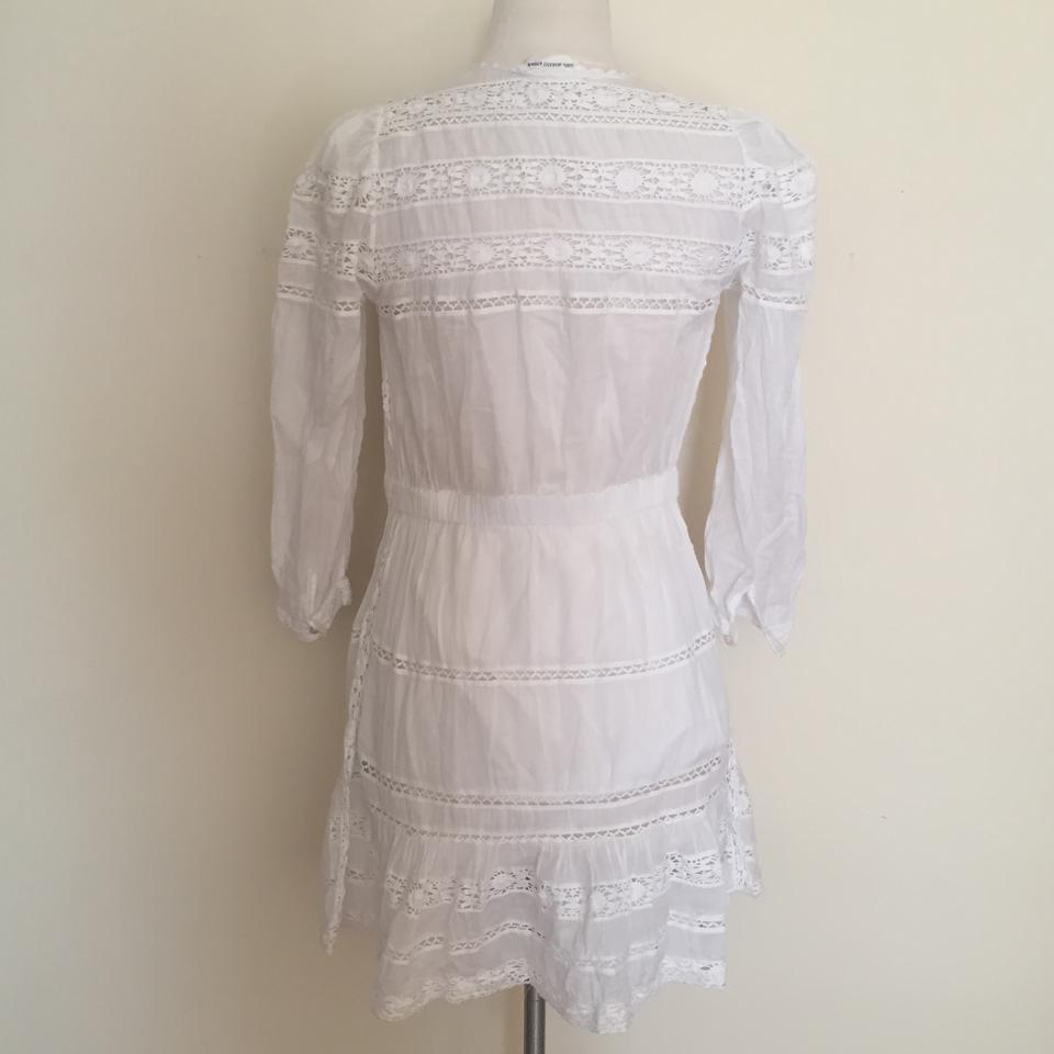 a6fcc0e599 Étoile Isabel Marant White Greta Cotton Voile and Lace 34 Short Casual Dress  Size 2 (XS) - Tradesy