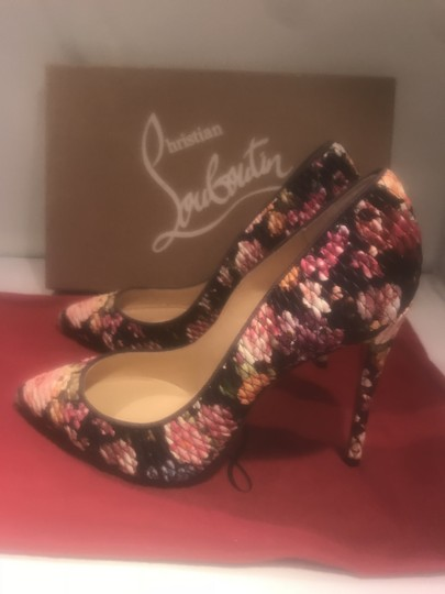 Christian Louboutin Stiletto Pigalle Follies Floral Quilted Multi Pumps Image 2