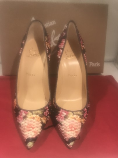 Christian Louboutin Stiletto Pigalle Follies Floral Quilted Multi Pumps Image 3