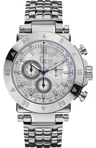 guess collection Guess Collection X90002G1S 45mm Silver Steel Bracelet & Mens watch