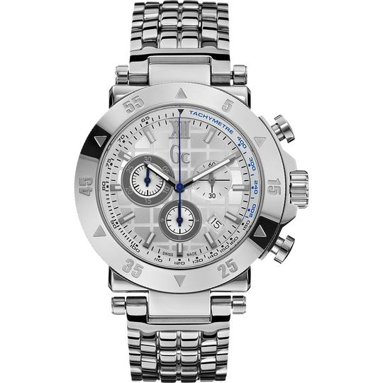 guess collection Guess Collection X90002G1S 45mm Silver Steel Bracelet & Mens watch Image 2