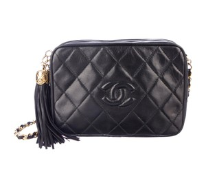 Chanel Vintage Quilted Tassel Shoulder Bag
