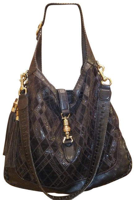 Item - Jackie Xxl By Made In Italy. It Has A Cross Body Strap and A Shoulder Strap. Hardware and The Brown Gold Lambskin Leather Hobo Bag