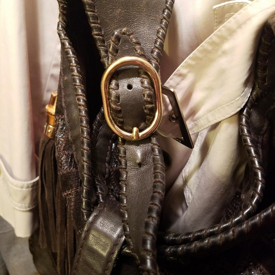 72d1938b99e Gucci Jackie Xxl By Made In Italy. It Has A Cross Body Strap and A Shoulder  Strap. Hardware and The Brown Gold Lambskin Leather Hobo Bag - Tradesy