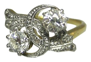18k,Yellow,Gold,Old,European,Rose,Cut,12,Ct,Diamond,Ladies,Ring,Size,6.25