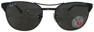 Ray-Ban Signet RB 3429 002/58 black metal Polarized 55mm