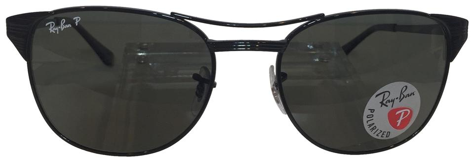 9668f308ee Ray-Ban Black Signet Rb 3429 002 58 Metal Polarized 55mm Sunglasses ...