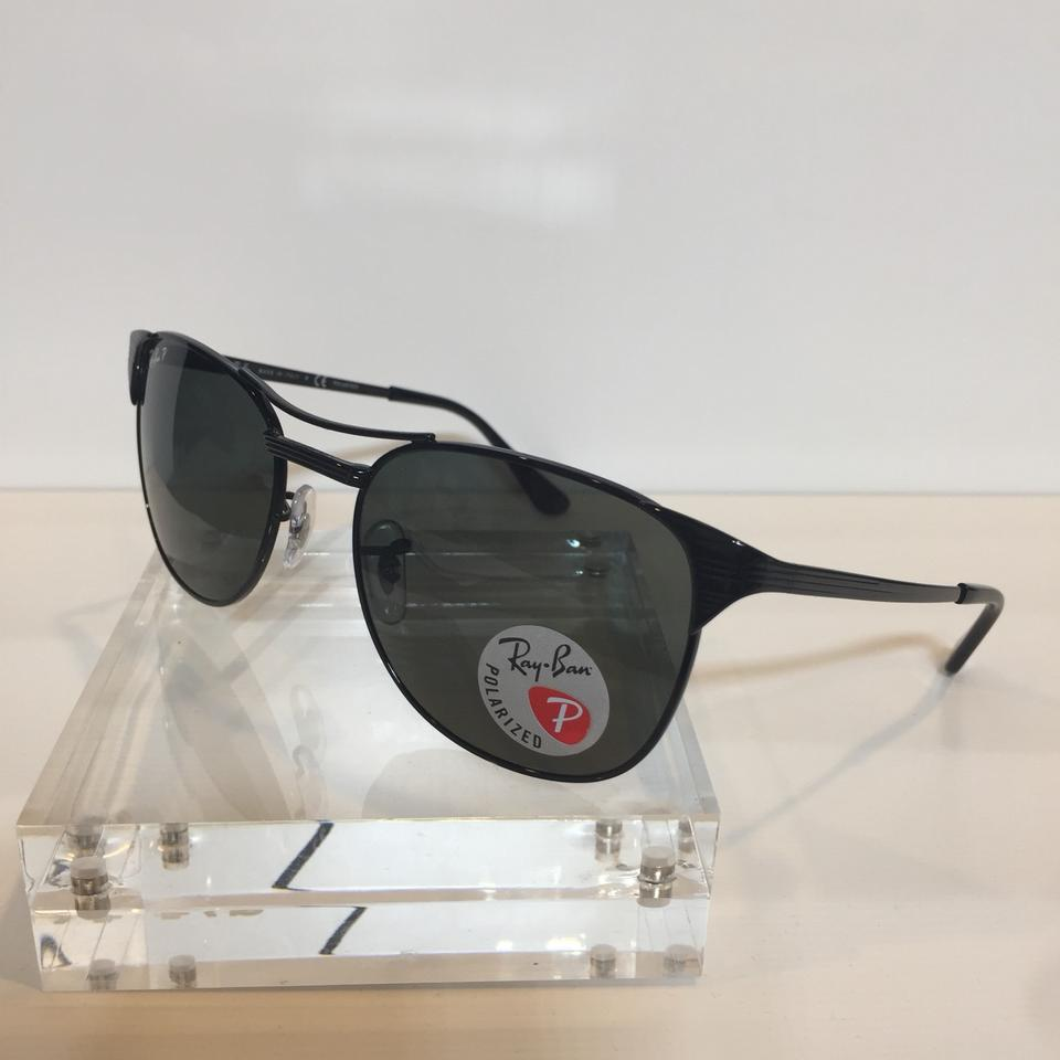 83418c2d773 Ray-Ban Black Signet Rb 3429 002 58 Metal Polarized 55mm Sunglasses ...