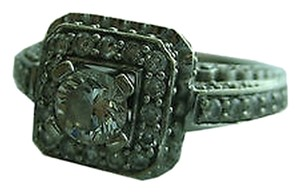 Other 14k,White,Gold,Ladies,Diamond,Cocktail,Ring,Size,7