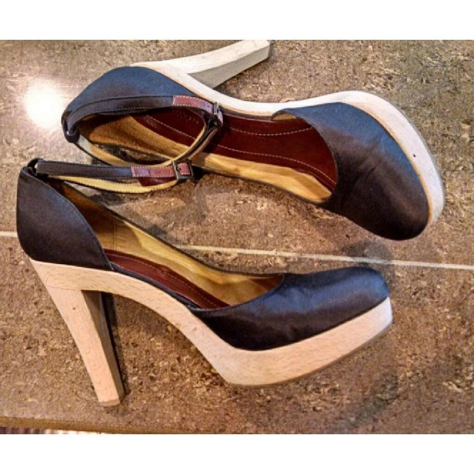 651b18fe69f Lanvin Ankle Strap Platforms Heels Satin Brown Pumps Image 8. 123456789. 1  ∕ 9