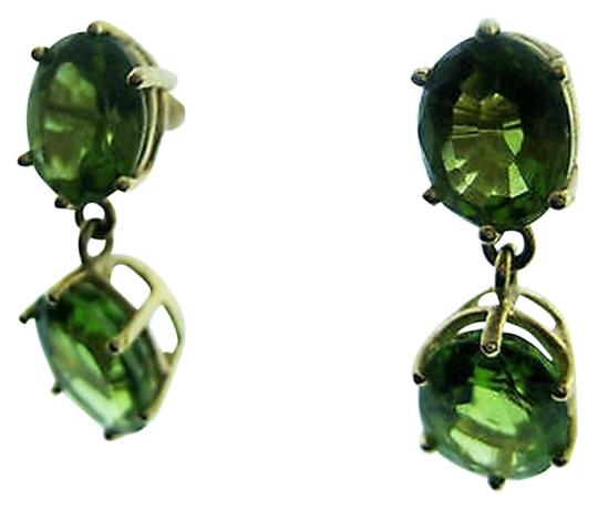 Other Fine,Estate,14k,Yellow,Gold,Green,Stone,Earrings,