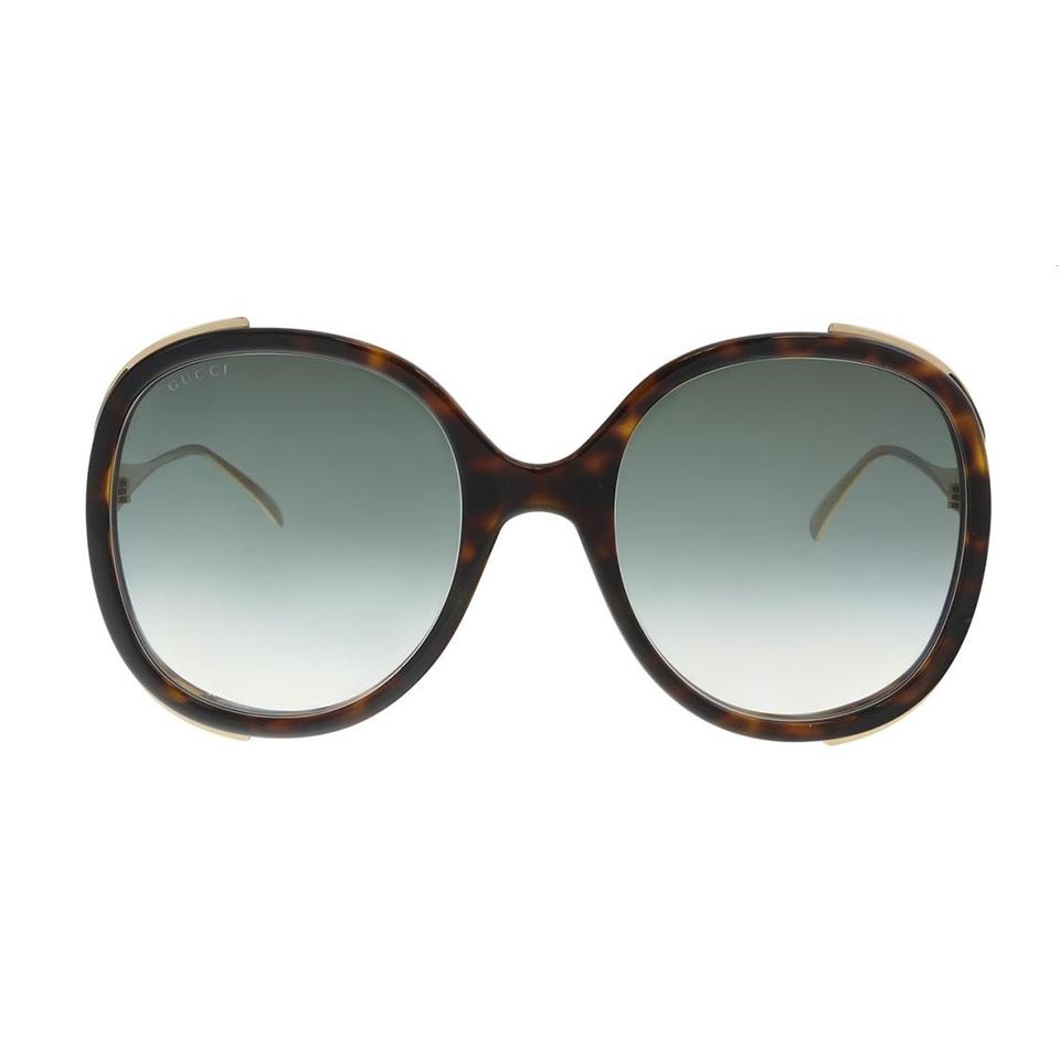 09c2ef9b53 Oversized Round-frame Metal Glasses Gucci
