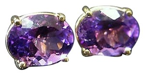 Other Fine,Estate,14k,Yellow,Gold,Amethyst,Earrings,