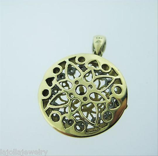 Other Fine,Estate,14k,Yellow,Gold,Ornate,Diamond,Locket,Pendant,Charm