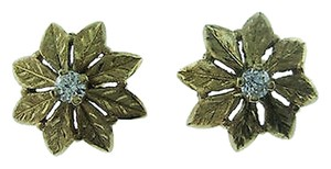 Other Fine,14k,Yellow,Gold,Flower,Diamond,Earrings