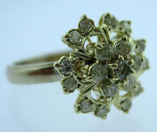 Other 14k,Yellow,Gold,Ladies,Diamonds,Cluster,Ring,Size,4