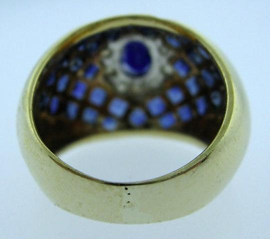 Other 14k,Yellow,Gold,Sapphire,Diamond,Ladies,Ring,Size,6.5