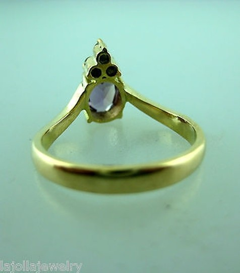 Other 14k,Yellow,Gold,Ladies,Amethyst,Diamond,Ring,,
