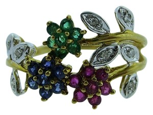 Other 14k,Yellow,Gold,Multi,Color,Topaz,Diamond,Ladies,Ring,Size,7