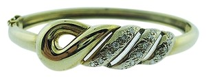 Other 14k,Yellow,Gold,Diamond,Bangle,Bracelet,.30ct