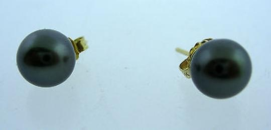 Other Fine,Estate,14k,Yellow,Gold,Tahitian,Pearl,Earrings,