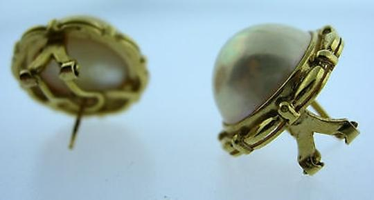 Other Fine,Estate,14k,Yellow,Gold,Pearl,Earrings,
