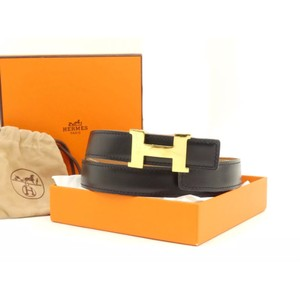 Herms Hermes H Constance Slim Reversible Belt