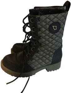 Matt Bernson Waterproof Quilted Lace Black and gold Boots