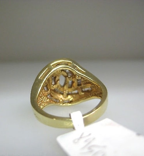 Other 14k,Yellow,Gold,Channel,Set,Baguette,Diamond,Free,Form,Ladies,Ring,Size,4.5