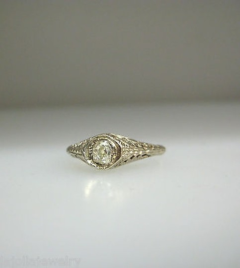 Other 14k,Yellow,Gold,Antique,Rose,Cut,Diamond,Ladies,Ring,Size,6.25
