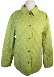 Burberry London Quilted Nova Check Lime green Jacket