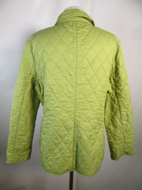Burberry London Quilted Nova Check Lime green Jacket Image 1