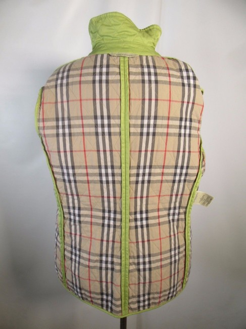 Burberry London Quilted Nova Check Lime green Jacket Image 2