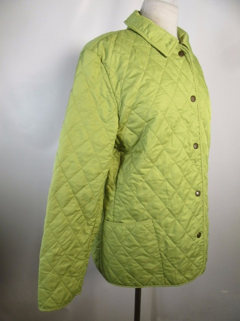 Burberry London Quilted Nova Check Lime green Jacket Image 3