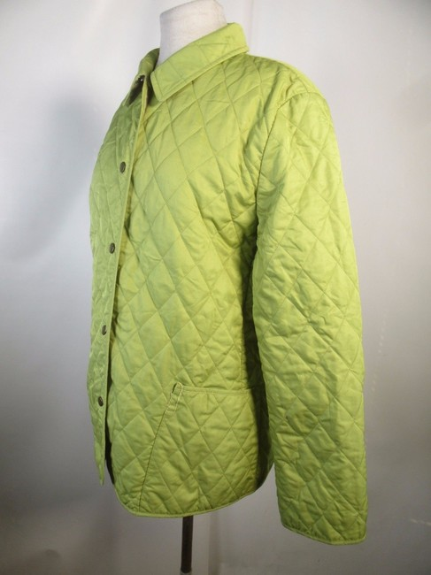 Burberry London Quilted Nova Check Lime green Jacket Image 4